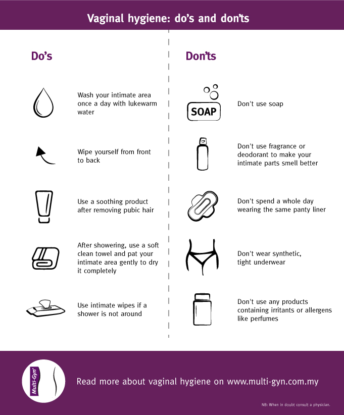 vaginal hygiene do's and don'ts